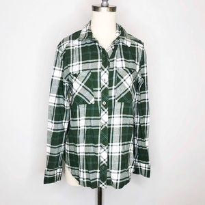 LA Hearts Plaid Flannel Shirt sz M
